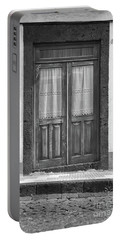 Old Wooden House Door Portable Battery Charger
