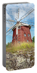 Old Wooden Windmill In Sweden Portable Battery Charger
