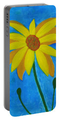 Old Yellow  Portable Battery Charger by John Scates