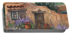 Portable Battery Charger featuring the painting Old Adobe Cottage by Marilyn Smith