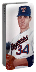 Older Nolan Ryan With The Texas Rangers Portable Battery Charger