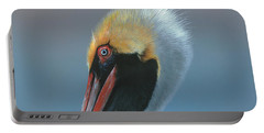 Portable Battery Charger featuring the painting Ole Blue Eyes by Mike Brown