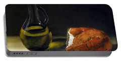 Olive Oil And Bread Portable Battery Charger
