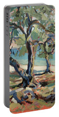 Olive Trees Along Marmari Beach Paxos Portable Battery Charger