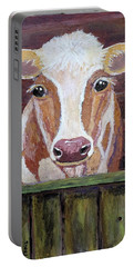 Portable Battery Charger featuring the painting Olivia by Suzanne Theis