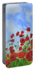 Olivia's Poppies Portable Battery Charger