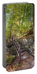 Portable Battery Charger featuring the photograph Olmsted Falls Staircase by Lon Dittrick