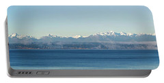 Portable Battery Charger featuring the photograph Olympic Mountains Across Puget Sound by Mary Jo Allen