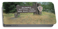 Olympic Park Sign Portable Battery Charger by Tony Mathews