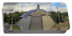 Olympic Ski Jump Oslo, Norway  Portable Battery Charger by Allan Levin