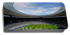 Olympic Stadium Berlin Portable Battery Charger by Juergen Weiss
