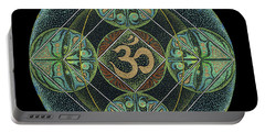 Portable Battery Charger featuring the painting Om by Keiko Katsuta