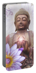 Om Mani Padme Hum - Buddha Lotus Portable Battery Charger