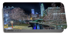 Portable Battery Charger featuring the photograph Omaha Holiday Lights Festival by Susan Rissi Tregoning