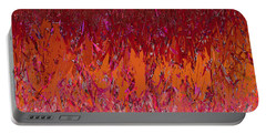 Light My Fire Deep Red Flame Ombre Abstract  Portable Battery Charger