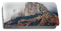 Portable Battery Charger featuring the photograph On A Misty Day by Phyllis Denton