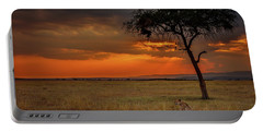 On A  Serengeti Evening  Portable Battery Charger