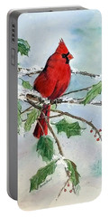 On A Snowy Perch Portable Battery Charger