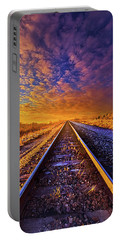 Portable Battery Charger featuring the photograph On A Train Bound For Nowhere by Phil Koch