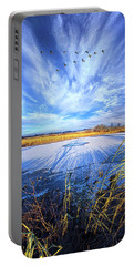 Portable Battery Charger featuring the photograph On Frozen Pond by Phil Koch
