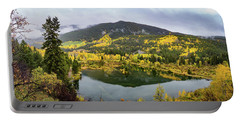 Portable Battery Charger featuring the photograph On Golden Pond by Tim Stanley
