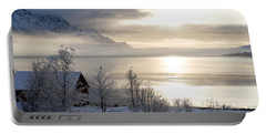 Portable Battery Charger featuring the photograph On My Way Through Lofoten 4 by Dubi Roman