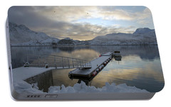 Portable Battery Charger featuring the photograph On My Way Through Lofoten 1 by Dubi Roman