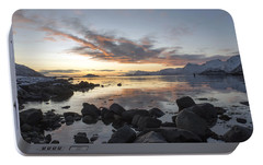 Portable Battery Charger featuring the photograph On My Way Through Lofoten 5 by Dubi Roman
