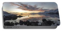 On My Way Through Lofoten 5 Portable Battery Charger by Dubi Roman