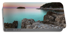 On The Beach In Dawn Portable Battery Charger