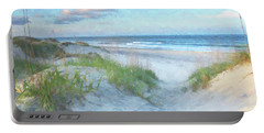 On The Beach Watercolor Portable Battery Charger