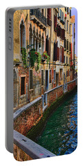 On The Canal-venice Portable Battery Charger by Tom Prendergast