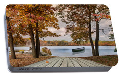 Portable Battery Charger featuring the photograph On The Lake by Robin-Lee Vieira