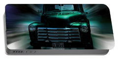 On The Move Truck Art Portable Battery Charger