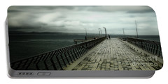Portable Battery Charger featuring the photograph On The Pier by Perry Webster