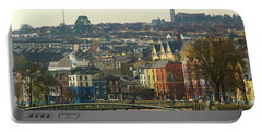 Portable Battery Charger featuring the photograph On The River Lee, Cork Ireland by Marie Leslie