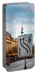 On The Road In Berlin Portable Battery Charger