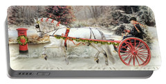 Portable Battery Charger featuring the digital art  On The Road To Christmas by Trudi Simmonds