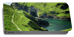 Portable Battery Charger featuring the photograph On The Road To Tintagel by Connie Handscomb