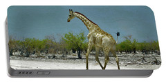 Portable Battery Charger featuring the digital art On The Run Again by Ernie Echols