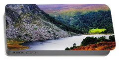 On The Shore Of Lough Tay. Wicklow. Ireland Portable Battery Charger
