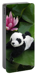 Portable Battery Charger featuring the photograph On The Waterlily by Ausra Huntington nee Paulauskaite