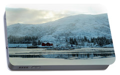 Portable Battery Charger featuring the photograph On My Way Through Lofoten 2 by Dubi Roman