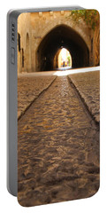 Portable Battery Charger featuring the photograph On The Way To The Western Wall - The Kotel - Old City, Jerusalem, Israel by Yoel Koskas
