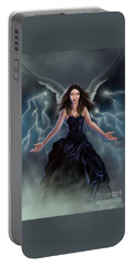 On The Wings Of The Storm Portable Battery Charger by Amyla Silverflame