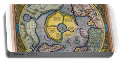 On Top Of The World - Mercator's Arctic Map 1595 Portable Battery Charger