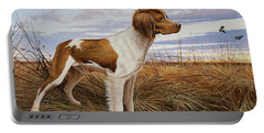 On Watch - Brittany Spaniel Portable Battery Charger
