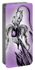 One Big Orchid. Deep-purple White Portable Battery Charger