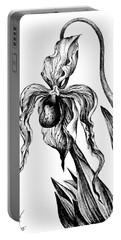 One Big Orchid. Monochrome Portable Battery Charger