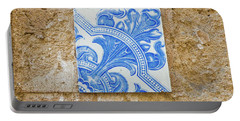 One Blue Vintage Tile  Portable Battery Charger